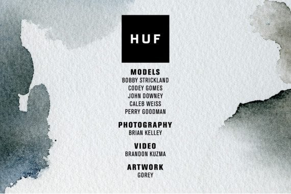 HUF 2014 Fall Lookbook Back